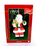 Carlton Cards Talking Santa Claus Christmas Ornament Heirloom Collection - $15.00