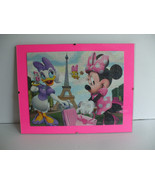 Minney Mouse And Daisy Duck Paris Vacation Framed Puzzle Wall Art - $17.98
