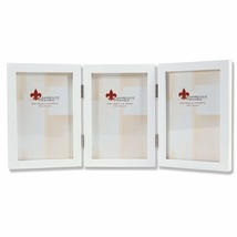 Lawrence Frames Hinged Triple White Wood Picture Frame, Gallery Collecti... - £17.06 GBP