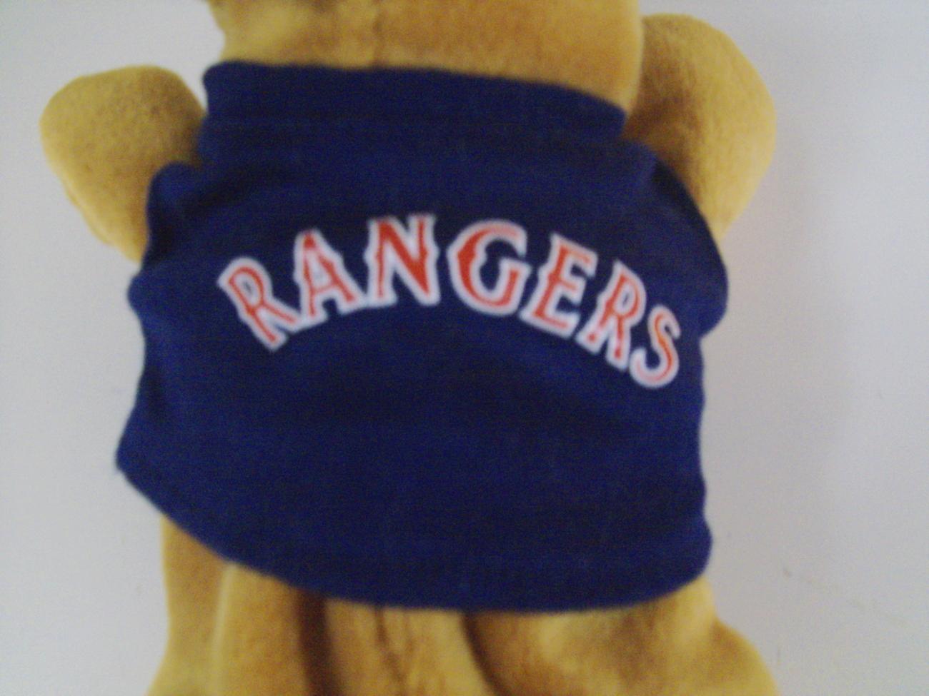 Texas Rangers Beanie Animals babies dog w/ jersey NWT