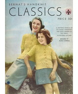 Needlecraft Book- Bernat 1945 Handknit Classics... - $6.99