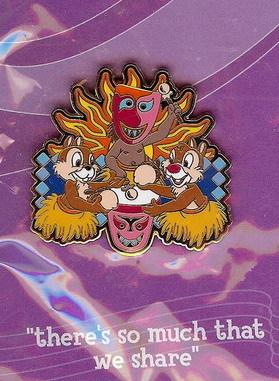 Disneyana 2000 Small World Chip & Dale  #5 Pin/Pins