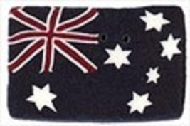 "Small Australian Flag 3431s handmade clay button 1"" JABC Just Another Bu... - $1.60"