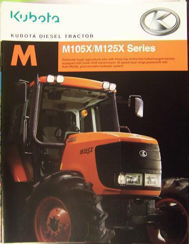 Primary image for 2005 Kubota M105X, M125X Tractors Brochure