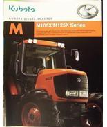 2005 Kubota M105X, M125X Tractors Brochure - $9.00