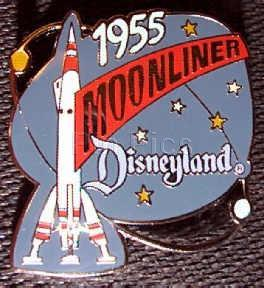 Disney DL 1998 Attraction Moonliner Pin/Pins