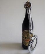 Vintage Key Chain Guinness Beer Bottle Miniature Souvenir Ireland British - $9.89