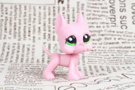 LPS #2598 Mauve Pink Great Dane Dog Green Eyes Puppy Girl toys - $4.94
