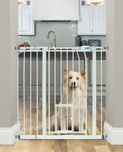 Carlson Extra Wide Walk Through Pet Gate with Small Pet Door, 37-Inches ... - $56.80