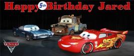 Disney Pixar Cars 2 Custom 6 FOOT SUPER XL Birthday Party Banner - $54.95