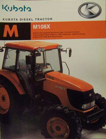 Primary image for 2007 Kubota M108X Tractor Brochure