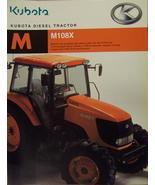 2007 Kubota M108X Tractor Brochure - $8.00