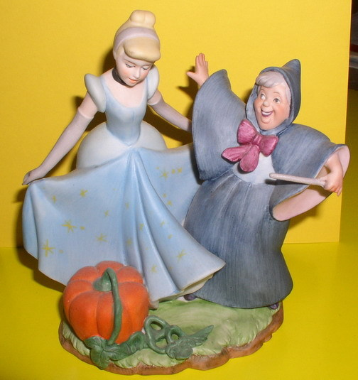 Disney Cinderella & Fairy Godmother Porcelain