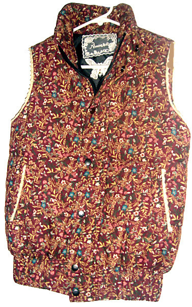 Flower Print Quilted Vest