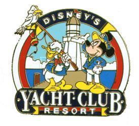 Disney WDW  Donald & Mickey Yacht Club Resort pin/pins