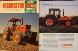 1986 Kubota M8950 Tractor Brochure & 1985 Cabs Spec Sheet Brochure Lot of 2 - $10.00