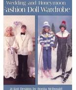 Wedding and Honeymoon Fashion Doll Wardrobe for Barbie 21 Knit Designs P... - $6.27