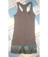 Lace Trimmed Racerback Tank - $5.00