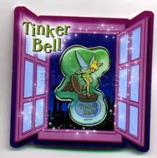 Disney Japan Tinkerbell Inkwell Window Card Pin/Pins