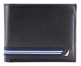 Nautica Men's Genuine Leather Credit Card ID Double Billfold Passcase Wallet image 2