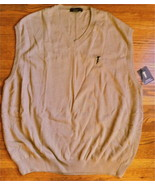 Mens Khaki Golf Sweater Vest by Fairway Outfitters ~ SZ XXL - $40.00