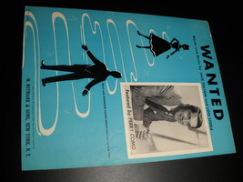 Sheet Music Wanted Perry Como Jack Fulton Lois Steele 1954 M Witmark & Sons - $8.99