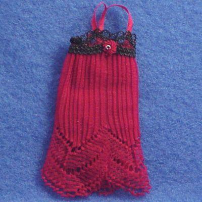 Heidi Ott Dollhouse Lady's Negligee red-black lacy Miniature