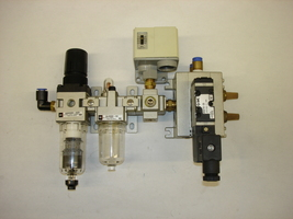 SMC Air Regulator, Lubricator, Pressure Switch & Solenoid - $157.00