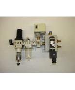 SMC Air Regulator, Lubricator, Pressure Switch & Solenoid - $157.00