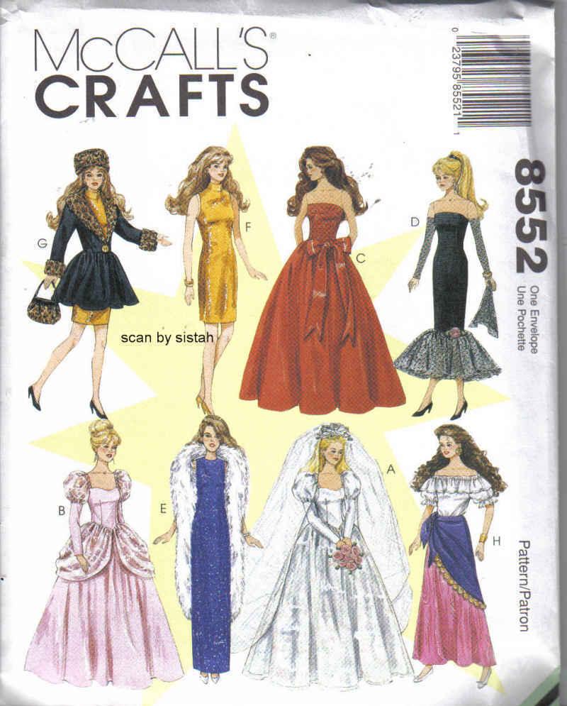 Fashion doll sewing patterns free 82