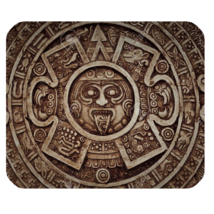 Mouse Pad Mayan Calendar Nature Abstract Design In Metal Brown Anime Fantasy - $9.00