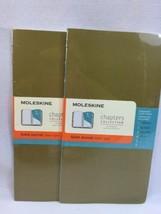 (2) Moleskine Chapters Journal Slim Medium Ruled Tawny Olive Diary 3.75 ... - $14.60