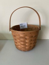 "1990 Longaberger Basket 11 3/4""h (with handle up) x 8""d - $15.00"
