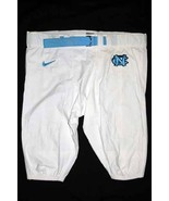 UNC TARHEEL GAME USED FOOTBALL PANTS WHITE Siz... - $29.00