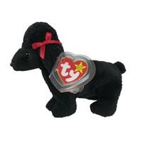 Ty Original Beanie Baby Gigi Black Poodle Plush Stuffed Animal Dog Tag E... - $15.83