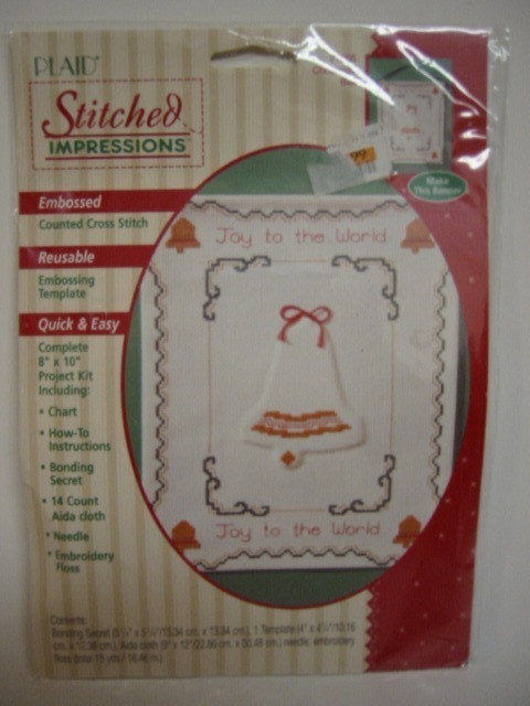 Plaid Counted Cross Stitch Kit Christmas Bell