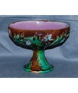Antique Majolica Pottery Ivy Berry Pear Compote - $150.00