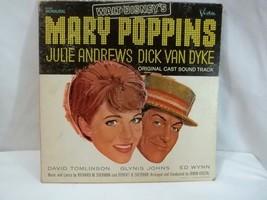 Mary Poppins LP  Walt Disney Original Cast Soundtrack Monaural 33 1/2 Vi... - $12.82
