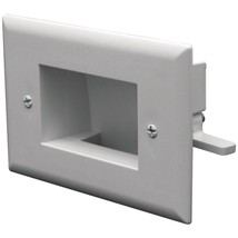 DataComm Electronics 45-0008-WH Easy-Mount Recessed Low-Voltage Cable Plate (Whi - $19.73