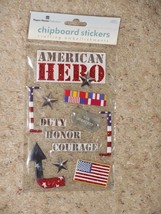 NEW Paper House 3D Stickers American Hero Duty Honor Courage Soldier Dog... - $3.99