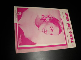 Sheet Music Sweet And Gentle Georgia Gibbs George Thorn Otilio Portal 1953 - $8.99
