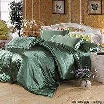 Taste Light Green Bedding Silk Bedding, Queen Size - $108.89