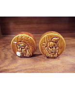 Native American Drums Ceramic Salt and Pepper Shakers - $4.95