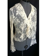 EXPRESS Top Blouse 7/8 Nylon YES Its see through Lacy Sexy Fun Bust 35 Inch - $17.30