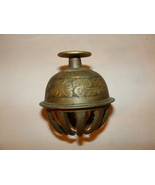 Vintage Etched Brass Elephant Claw Bell - $48.00