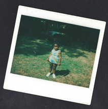 Vintage Polaroid Photograph Cute Little African American Girl Standing i... - $5.94