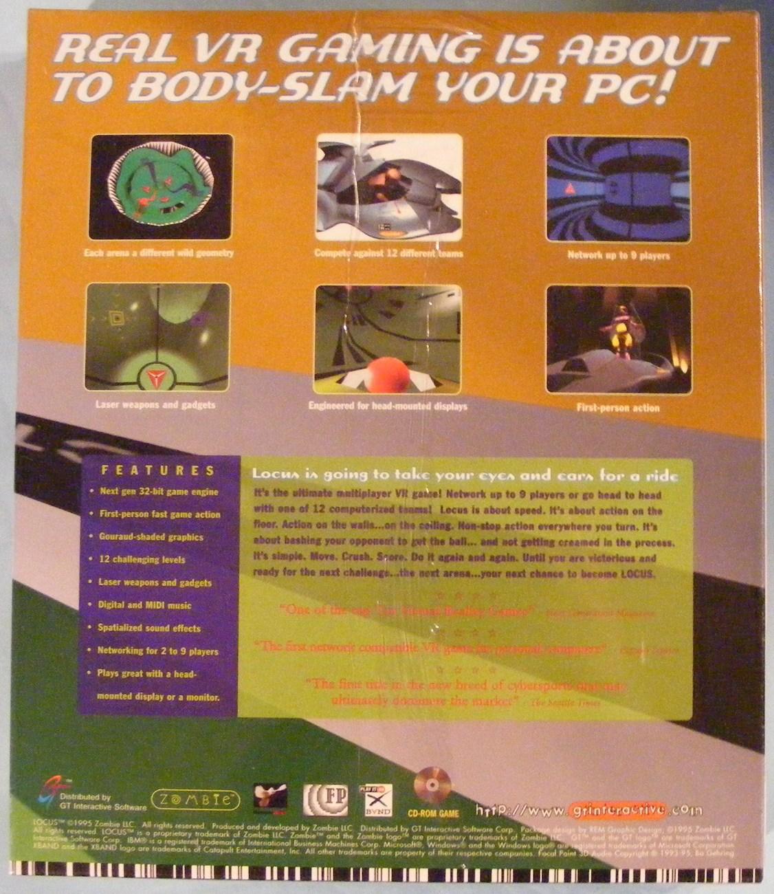 Powerslide Pc Game: 1995 Locus Virtual Reality PC Game