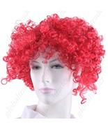 Synthetic Reddish Brown Funky Unisex Short Clown Wig - $19.90