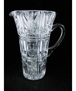 Crystal Clear Glass Pitcher Thumb Print Ovals S... - $25.00
