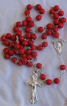 Primary image for Red wood Rosary